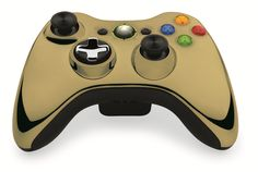 Custom Xbox 360 Controller  Wireless Glossy Half-Green Beige-And-Half-Black Red.- Without Mods