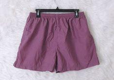 Womens NIKE Purple Drawstring Waist 100% Nylon Athletic Running Shorts SZ Large #Nike #Athletic #Casual