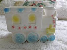 Vintage Train Baby Nursery Planter/ Parma by AAI Made in Japan/Ceramic by RadiogirlCarolyn on Etsy