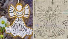 Horgolt mintagyűjtemény: Karácsonyi angyal