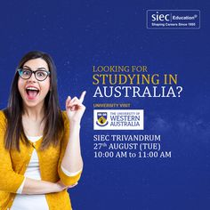 Are you aspire to Study In Canada? Get in touch with us, we will help you with a… Social Media Poster, Social Media Banner, Social Media Design, Australia Visa, Western Australia, Education In Australia, School Advertising, Education Banner, Western University