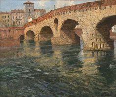 Verona nel cuore......I NOSTRI ARTISTI.....   Frits Thaulow 1847-1906: Ponte di Pietra, Verona