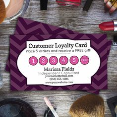 Customer Loyalty Card - Instant Download | Younique Inspired - Perfect for Direct Sales, MLM, Home Parties