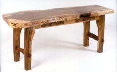 Walnut Slab Desk by Brad Greenwood
