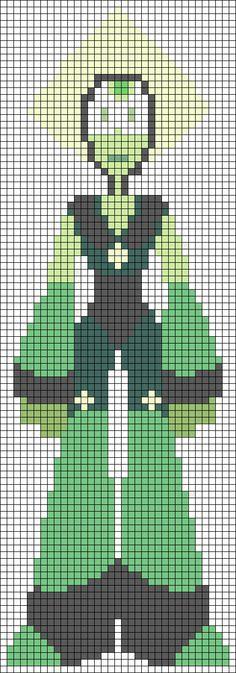Peridot - Steven Universe Perler Bead Pattern