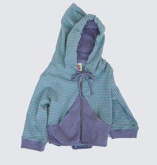 Very eco inspired Little esop building blocks hooded sweatshirt in mint and mustard stripe