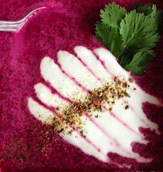 Cream of Beet Summer Soup #paleo #raw #vegan #vegetarian