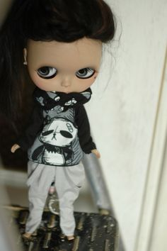 Rock your Panda Set for Blythe by SMPdoll on Etsy, $30.00