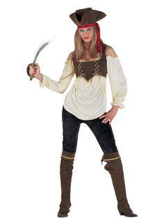 Piratinkostüm, Piratenkostüm, Carribeankostüm, edle Piratin, Kostüm als Piratin mit Hose