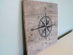 Compass rose sign - travel hiking outdoors camping hunting pirate - reclaimed pallet wood - wooden rustic farmhouse decor wall art barn wood by HewnWoods on Etsy