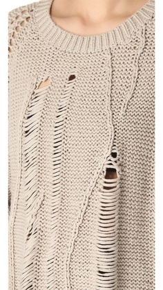 Tess Giberson Disintegrating Cable Sweater | SHOPBOP