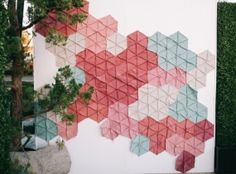 Geometric Photobooth Backdrop for Modern Weddings + Events