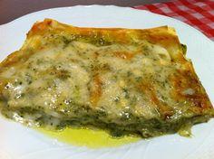 Lasagne al pesto Pasta Recipes, Diet Recipes, Cooking Recipes, Penne Al Pesto, Lasagne Pesto, Mozzarella, Sicilian Recipes, Pasta Noodles, Polenta