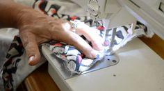 Colocando zíper invisível com sapata de zíper comum- aula 17