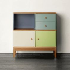 love the colors of this dresser. Also a good idea if i ever decide to paint the cabinet in the entryway