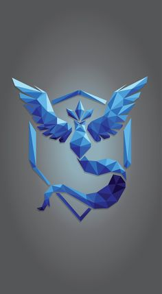 Geometric #TeamMystic #PokemonGo Mobile Wallpaper (1363 x 2483)