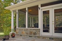 partial screened porch