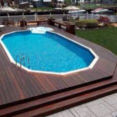 Decking ideas for the pool