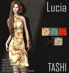 TASHI Lucia   Hi!  We are happy to announce that TASHI is part of the new round at The Retail Therapy!!! and for that reason we decided to have one of our new releases with some of our old releases also 50% off at this event!  The new dress that is 50% TASHI Lucia a dress that comes in 5 color options