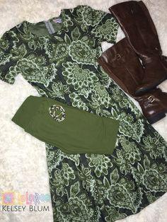 LuLaRoe Amelia & OS Leggings Green
