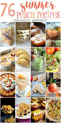 76 Summer Peach Recipes at Craftaholics Anonymous