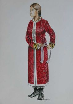 Magyar female clothing, early medieval