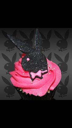 Playboy logo cupcake