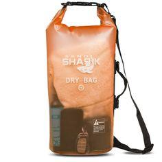 588493605a1 Premium Waterproof Dry Bag by SandShark- Transparent 10   20 Liter Floating  Sack for Boating