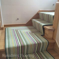 Carpet Runners On Stairs Pictures Referral: 8937413513 Foyers, Stair Carpet Protector, Hallway Carpet Runners, Stair Runners, Staircase Runner, Mdf Skirting, Stairway Carpet, Striped Carpets, Striped Carpet Stairs