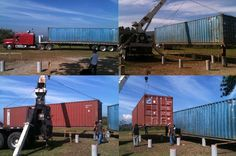 Two heavily used 40' shipping containers...