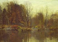 "Currier Collections Online - ""Autumn Landscape"" by John Joseph Enneking"