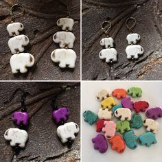 Elephant family earring single or pair Wildlife fundraiser Kwanzaa lucky charm Gift mother sister father partner daughter friend man woman Elephant Jewelry, Elephant Earrings, Elephant Colour, Nickel Free Earrings, Elephant Family, Kwanzaa, Lucky Charm, Unique Earrings