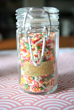 Sprinkle party favor- sprinkle with love baby shower