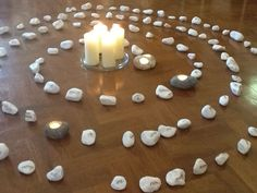 Lectio Divina with stones, reflective prayer and bible study activity