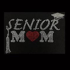Family, Senior Mom Rhinestone Bling on Black T-Shirt - Customize Change shirt color Contact me Mom Template, T Shirt Design Template, Banner Template, Rhinestone Shirts, Bling Shirts, Rhinestone Transfers, Graduation Shirts For Family, Senior Shirts, Graduation Ideas