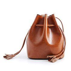 2016 Women Wax Oil Pu Leather Tassel Designer Bucket Leopard Style  Composite Bag Luxury Women Designer 753b8523e7bb6