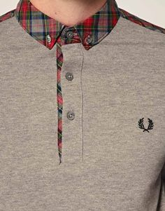 Men's fashion - plaid polo, Fred Perry Stewart