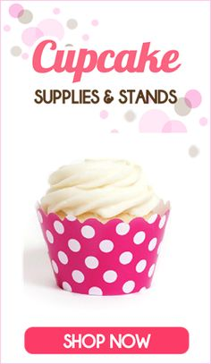 Cupcake Party Supplies and Cute, colored cupcake stands!! #shopping #partysupplies #partystore #cupcakestands