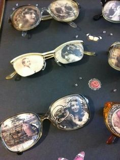 Old photos in glasses! Old photos in glasses! Crafts To Make, Home Crafts, Fun Crafts, Arts And Crafts, Old Pictures, Old Photos, Recycled Art, Repurposed, Memory Crafts