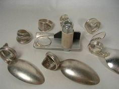 SPOON RING BENDER Make Rings-Silver,Gemstone Beads,Wire,Craft,Vintage Jewelry