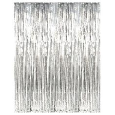 Buy 3' x 8' Silver Tinsel Foil Fringe Door Window Curtain Party Decoration at Walmart.com