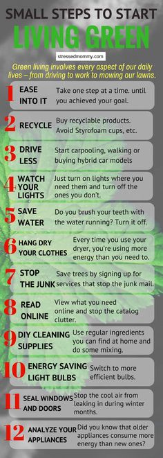 Start with these Small steps to start living Green.