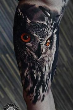 40 Realistic Owl Tattoo Designs for Men - Nocturnal Bird Ideas - Tattoos - Tatouage Tattoos 3d, Trendy Tattoos, Love Tattoos, Body Art Tattoos, Tattoos For Guys, Tatoos, Amazing Tattoos, Cover Up Tattoos For Men, Anklet Tattoos