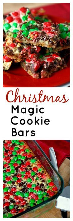 Christmas Magic Cookie Bars - perfect for your Christmas cookie tray! So easy and quick, and so pretty!
