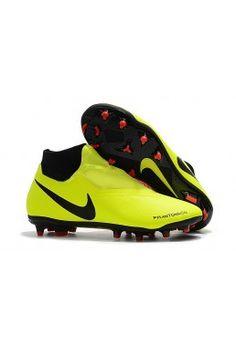 11b9ed78b3a Botas De Futbol Nike Phantom Vision Elite DF FG - Amarillo Negro Rojo