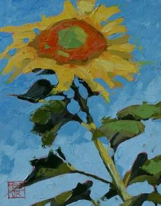 Sunflower+2+271,+painting+by+artist+David+Boyd,+Jr