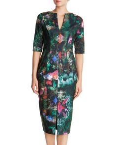 IYANA - Printed jersey dress - Black   Womens   Ted Baker UK