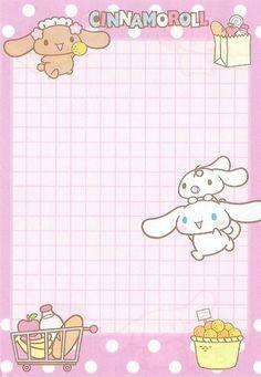 Kawaii memo paper - Cinnamonroll - Sanrio