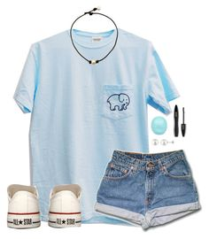 """""""Lauren!"""" by lydia-hh ❤ liked on Polyvore featuring Converse, Allurez, River Island and Lancôme"""