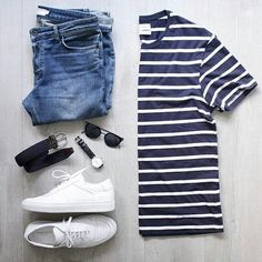 Outfit grid - Striped T-shirt